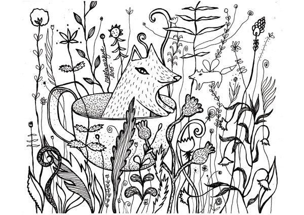 Принт - раскраска от Аси Масловой