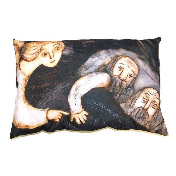 Михаил Алдашин: подушки с иллюстрациями из мультфильма «Рождество»