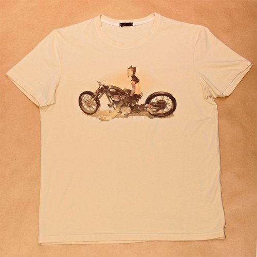 "Футболка мужская c рисунком Otto Schmidt ""Cat biker"""