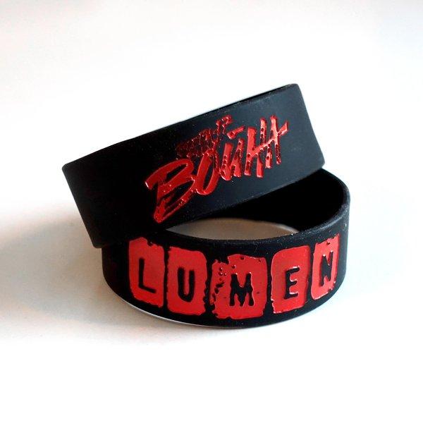 Lumen: силиконовый браслет черно-красный «Всегда 17 – всегда война»