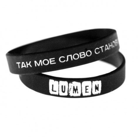 Lumen: браслет силиконовый «ТАК МОЕ СЛОВО СТАНОВИТСЯ КАМНЕМ»