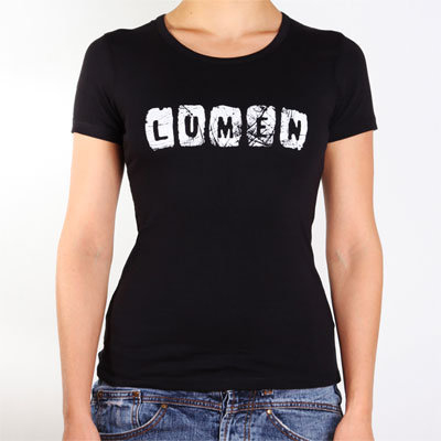 Lumen: женская черная футболка (t-18-B-WMN)